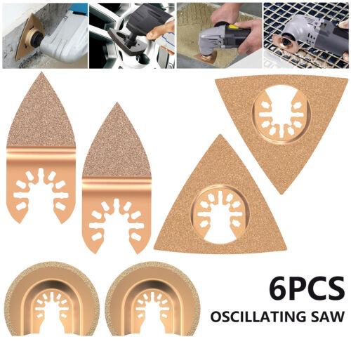 6PCS Saw Blade Cutter Oscillating Multi Tool Replacement Accessories US