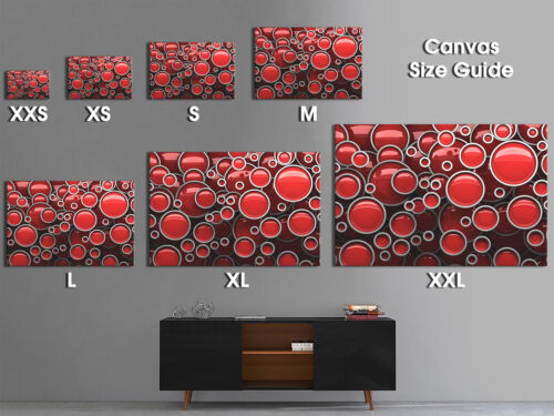 AB1109 Red Black Chic Modern Retro Abstract Canvas Wall Art Large Picture Prints