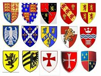Miniature Heraldic Shields-1/24th Scale Medieval Tudor Dolls House - Handmade