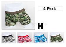 4pc M 32-34 Stretchable Trunk Short Cotton Mens Boxer Briefs Underwear Camouflag