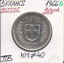 SVIZZERA - 5 FRANCHI - 1966 B - moneta in argento Conservazione: TTB