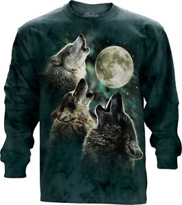 Mountain Animal Wolf Moon Longsleeve Adult Top Unisex 3 The xU4gc8Wq8w