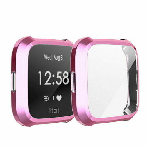 For Fitbit Versa//Lite Protect Case Cover Plating TPU Screen Protector Case Cover