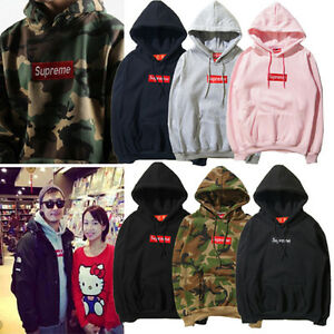 adebcf17b264 Image is loading Men-SUPREME-Hoodie-Embroidered-Cotton-women-Coat-Sweater-