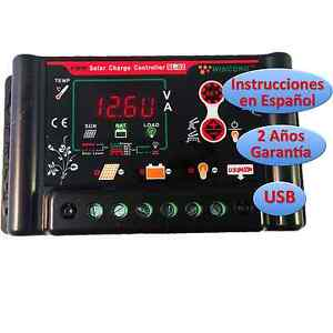 Regulador-de-Carga-Solar-30A-12v-24v-Pantalla-LCD-Programable-Regulator-Espanol