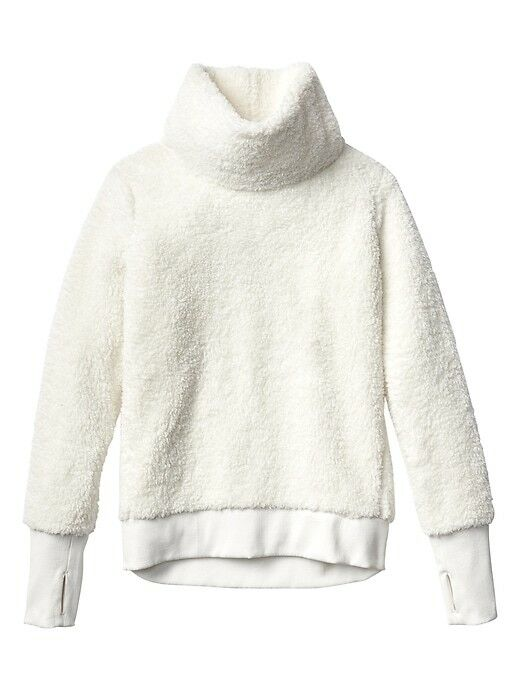 ATHLETA Nirvana Sherpa Funnel Sweatshirt, EUC, Large, Dove, Sold Out in Stores