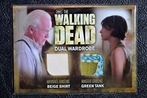 Cryptozoic-Walking-Dead-Season-2-STITCH-VARIANT-DM02-Dual-Wardrobe-Trading-Card