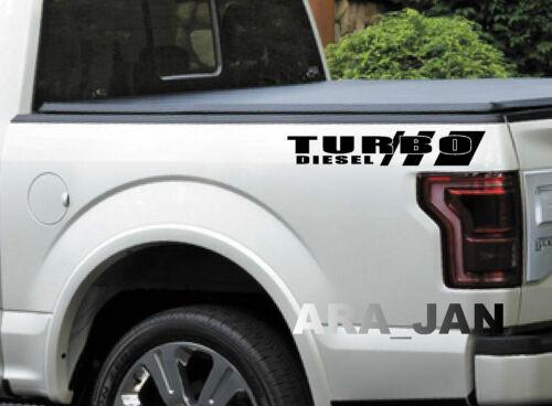 TURBO DIESEL Vinyl Decal Truck Pickup sport racing sticker logo emblem BLACK
