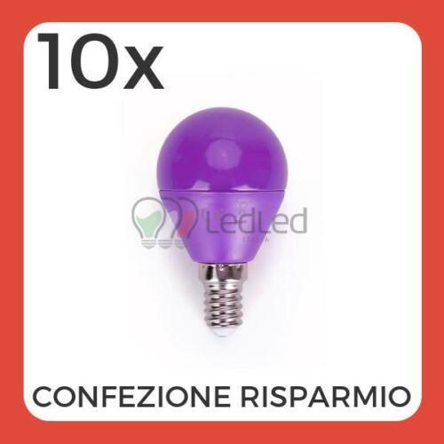 Confezione da 10 Pz di Lampadina Led G45 E14 4W Viola
