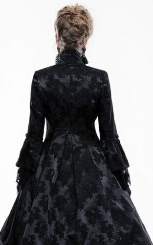 Manteau gothique lolita baroque victorien satin jacquard dentelle Punkrave N
