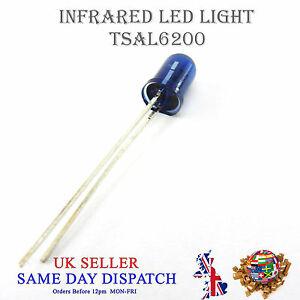 IR Transmitter 5mm TSAL6200 940nm LED Diodes Infra Red Emitter Blue