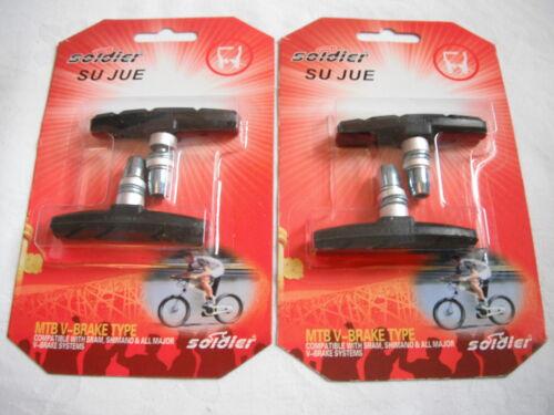 2 or Wholesale 10 pairs Mountain Bike V brake blocks Black Bicycle Pads 1