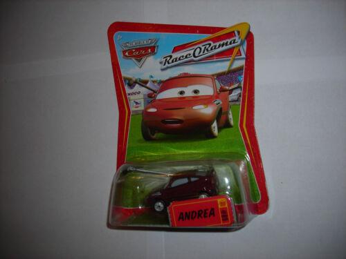 Disney Pixar Cars WORLD OF CARS RACE O RAMA CARD ANDREA #89 1:55 DIECAST NIP