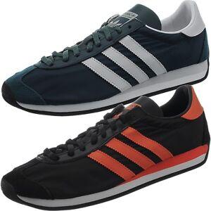 Details zu Adidas Country OG Herren low top Sneakers blau oder schwarz Freizeitschuhe NEU
