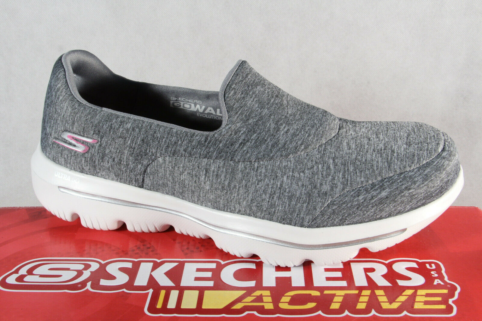 Skechers Slipper, Turnschuhe Halbschuhe Sportschuhe grau 15733   NEU