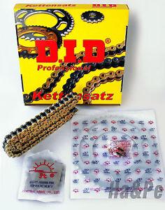 * Kawasaki KLE 500 DID Kettensatz chain kit 520 VX2 G&B gold 1991 - 1995