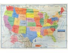 "USA US MAP Poster Size Wall Decoration Large MAP of USA 40""x28"""
