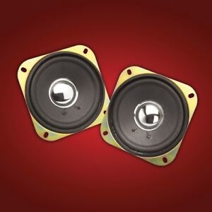 "Show Chrome Accessories 2-169C 4"" Replacement Speakers For GL1200 and GL1500"
