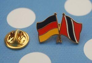 Freundschaftspin-Deutschland-Trinidad-und-Tobago-Pin-Button-Badge-Anstecker