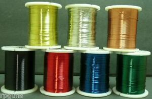 Copper-Craft-Wire-YOUR-CHOICE-28-or-24-Gauge-Red-Blue-Silver-Gold-Green-Black
