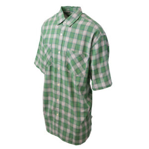Carhartt-Men-039-s-S05-Green-Cream-Plaid-S-S-Woven-Shirt-XL-2XL-Retail-40