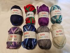 Lot of 8 Scarf Yarn 7 Katia Ondas Yarns and 1 Ice Yarns Multicolor