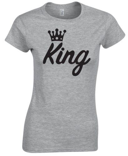 El Príncipe Rey Princesa parejas familia Camiseta amor que empareja Top Regalo Inspirado