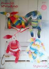 Stylecraft DK Merry go round Crochet Toy Knitting pattern Bunny Blanket  9161