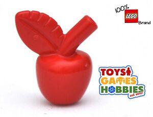 5x Lego city food apple red