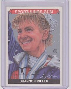 AWESOME 2015 SPORT KINGS SHANNON MILLER SILVER CARD #008 ~ USA GYMNASTICS LEGEND