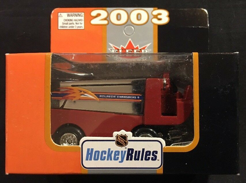 NHL Fleer Collectible Atlanta Thrashers 1 50 Diecast Zamboni New 2003