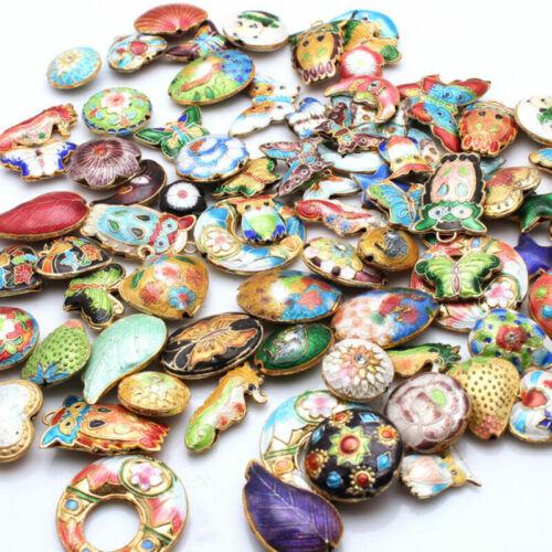 1Pc Mixed Color cloisonne enamel Spacer Loose Beads Pendentif Bijoux Making