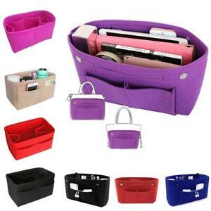 MultiPocket-Organizer-Handbag-Travel-Felt-Bag-Insert-Liner-Organiser-Inner-Bag