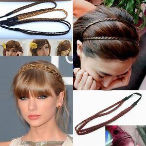 656500a3dc6d66 Das Bild wird geladen Doppel-Geflochten-Stirnband-Haarband-Haarschmuck- Haarreifen-Zopfgummi