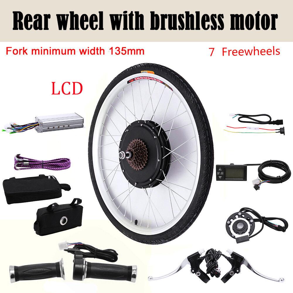 36V 250W  48V 1000W LCD kit di conversione bici elettrica per ruota posteriore