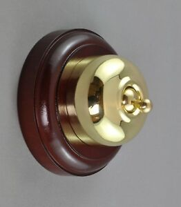 SWITCH-VICTORIAN STYLE-POLISHED BRASS-heritage vintage light retro-NEW-approved