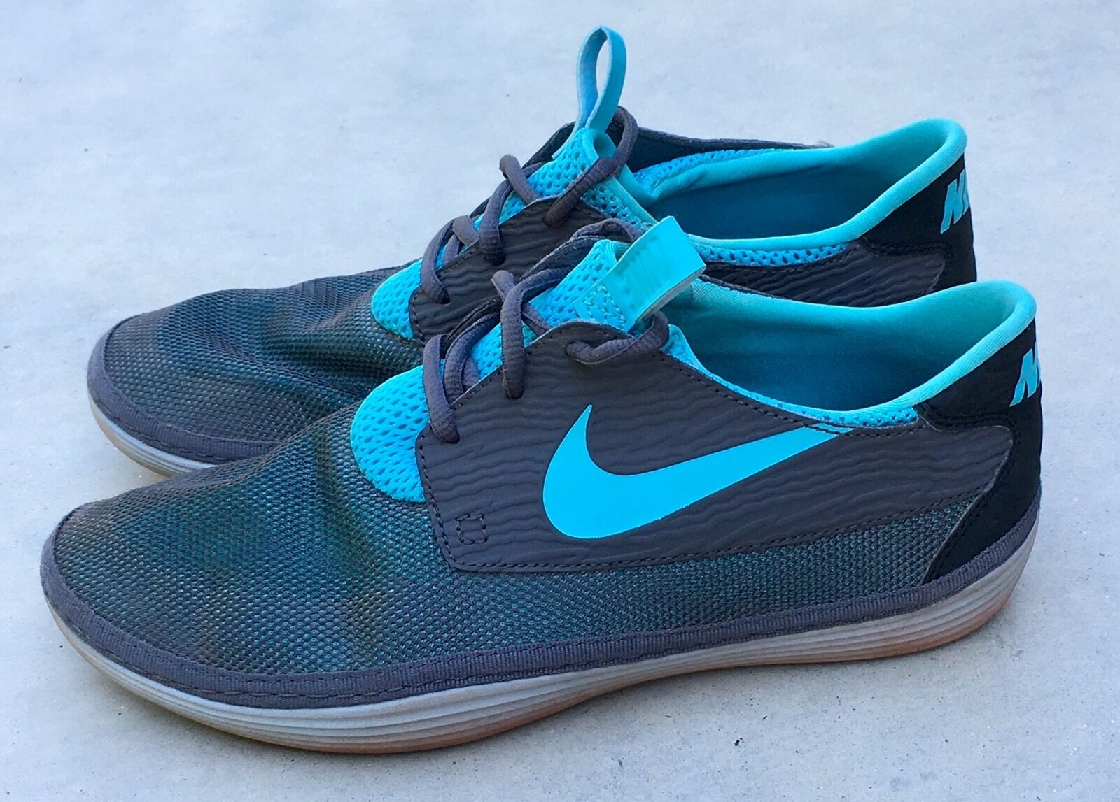 Nike Solarsoft Moccasin Athletic Running Shoes 555301-040 Gray Mens Sz 9 Seasonal price cuts, discount benefits