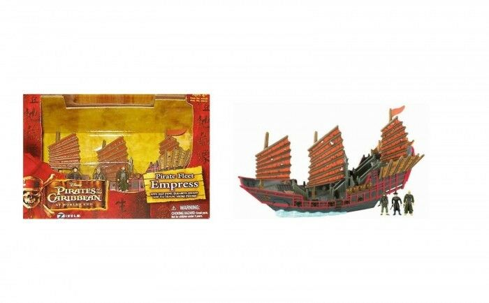 Pirates of the Caribbean Pirate Fleet Empress Micro Ship + 3 figures BNIB  20...