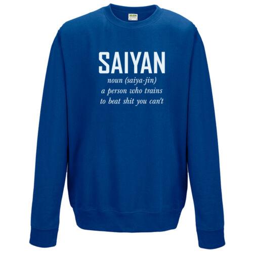 Saiyan Noun Sweatshirt Anime Chinese Dragon Z Inspired Super Vegeta Film Jumper
