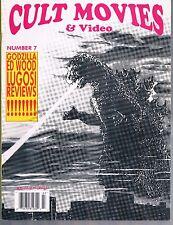 Cult Movies & Video Magazine #7 1993 Ed Wood Godzilla Bela Lugosi Bettie Page