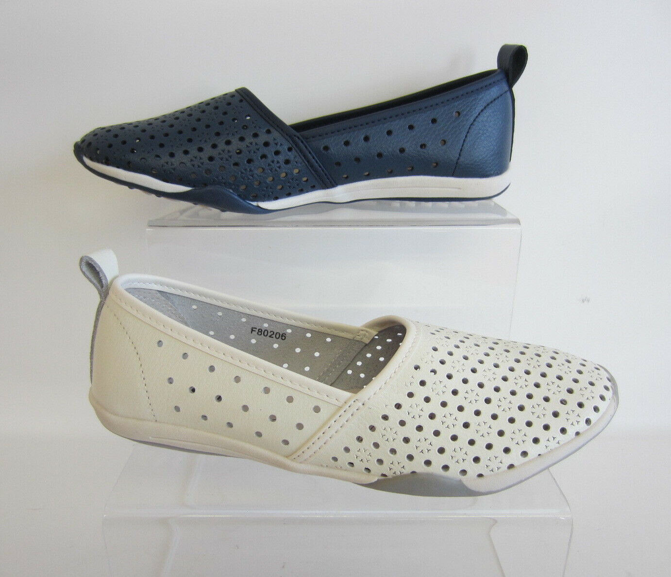 Ladies Down To Earth Flat Cut Out *Shoe*