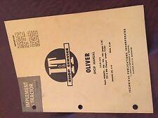 Iampt Oliver Shop Tractor Shop Manual Super 99 770 880 995 990 950
