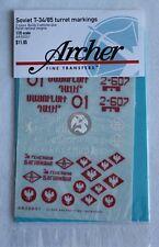 Archer 1/35 T-34/85 Turret Markings Sheet #2 with bonus Polish Insignias AR35031