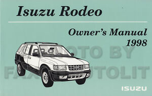 1998 isuzu rodeo manual