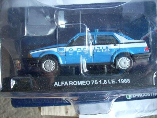 ALFA ROMEO 75 1.8 I.E 1988 POLIZIA SCALA 1\43