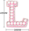 miniature 2 - Pearl Letter Patches Rhinestone Sparkle Alphabet Embroidery Sew on Iron on A-Z
