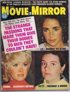 ORIGINAL-Vintage-April-1971-Movie-Mirror-Magazine-Elizabeth-Taylor-Connie-Steven