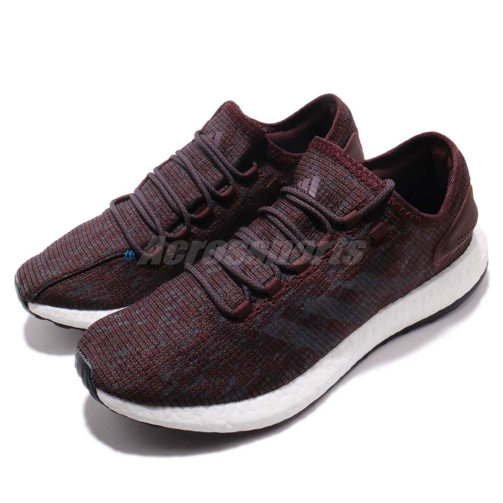 Adidas PureBOOST Oscuro Rojo Azul Hombres Para Correr Entrenamiento Calzado Tenis CM8301