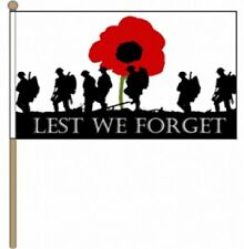 Lest we Forget Navy Large Bunting 30 Large Flags. 22.75m Long