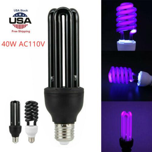 E27 Blacklight Low Energy UV Light Spiral Bulb Screw Ultraviolet Germicidal Lamp